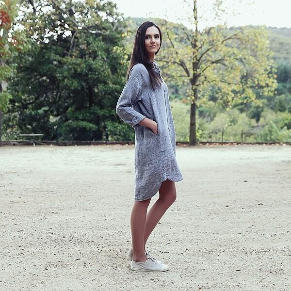 Leinenhemdkleid - LinenMe