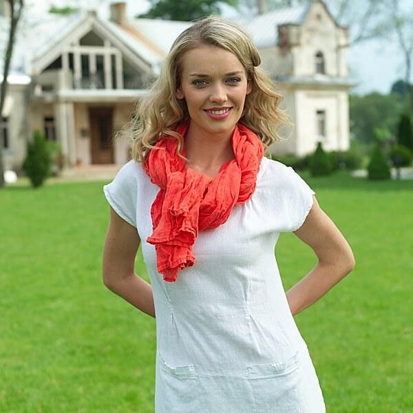 Weißes Leinenkleid Emma