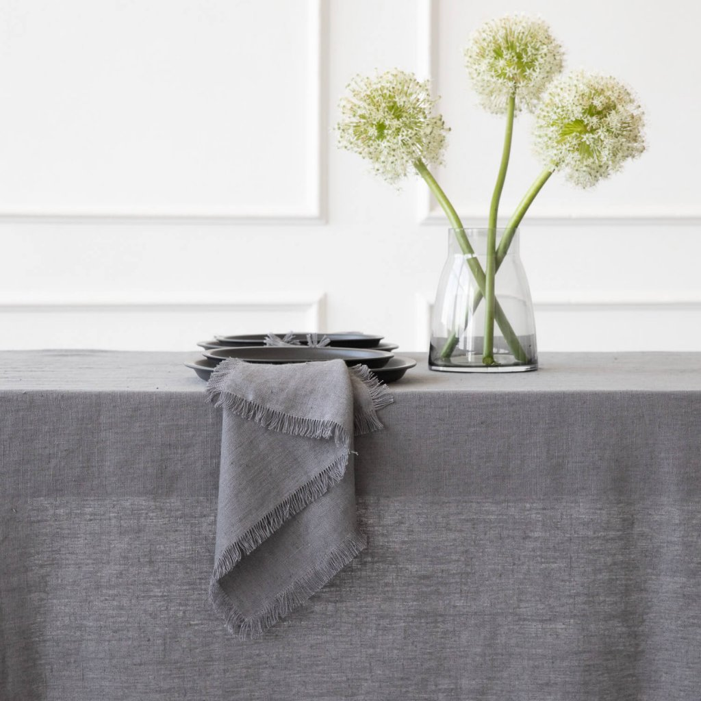 Leinen Tischdecke