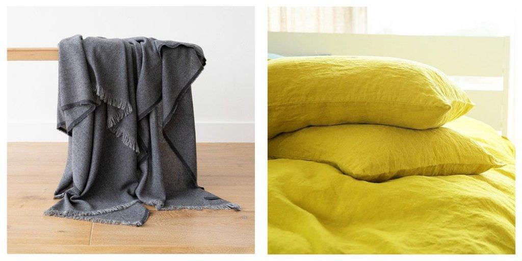 Citrin stein gewaschene Bettwäsche