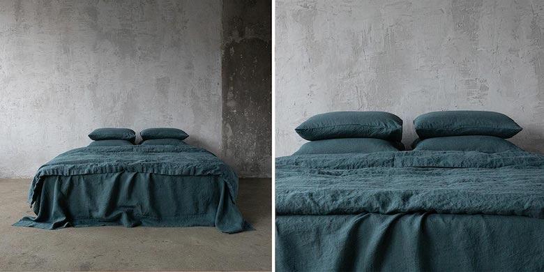 Linen-Bedding-Balsam-Green