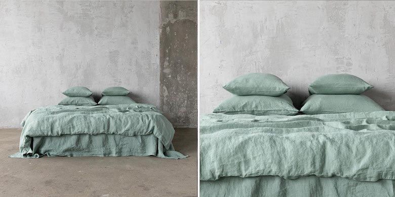 Linen-Bedding-Spa-Green