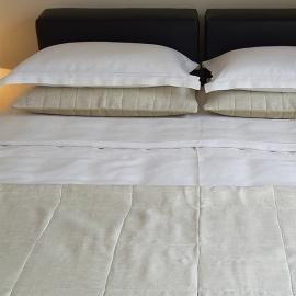 Bettbezug Grauweiß mit Hohlsaum
