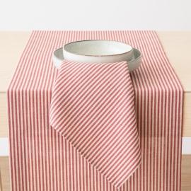 Tischläufer Rot Leinen Baumwolle Jazz