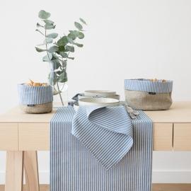 Tischläufer Blue Leinen Baumwolle Jazz