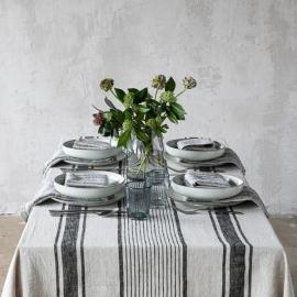Tischdecke Schwarz Leinen Provance