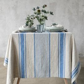 Tischdecke Blaues Leinen Provance