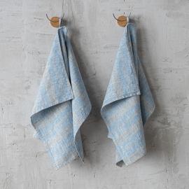 Leinen-Handtücher und Gästehandtücher Blue Multistripe