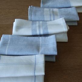 Set 2 Küchentücher Blau Due Leinen Baumwolle Florence