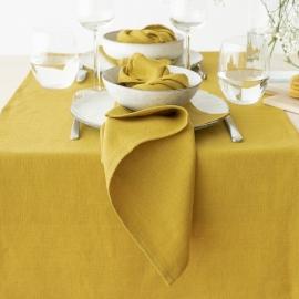 Set de 2 Gold Mano Toallas de Lino Francesca