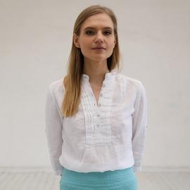 Weißes Leinen-T-Shirt Sofie