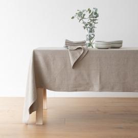 Natur Leinen Tischdecke Lara