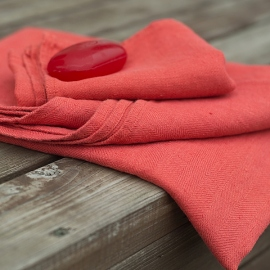 Orange Leinen Badetuchset Lara