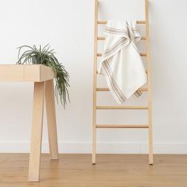 Weiß Grau Leinen Badetuch Tuscany