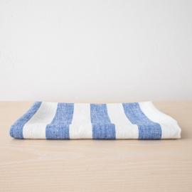 Weiß Blau Leinen Badetuch Philippe