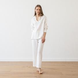 Pyjama Weiß Leinen Alma
