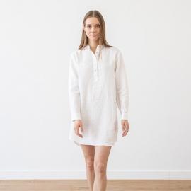 Nachthemd Weiß Leinen Alma