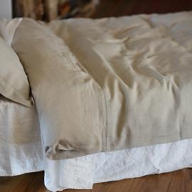 Bettbezug Natürlich Leinen Gerstenkorn
