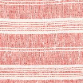 Leinen Stoff Rot Multistripe