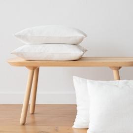 Lara Leinen Kissenbezug Weißgraues
