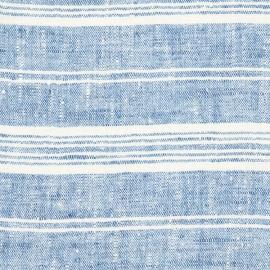 Fabric Blue Multi Striped Linen