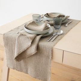 Natural Tischläufer Leinen Rustic