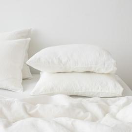 Bettlaken Mit Gummizug Aus Off White Leinen