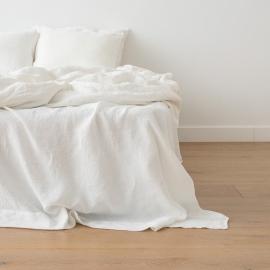 Vorgewaschenes Off White Leinen-Duvet