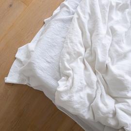 Vorgewaschenes Alpinweißes Leinen-Bettlaken