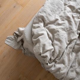 Vorgewaschenes Naturfarbenes Leinen-Bettlaken