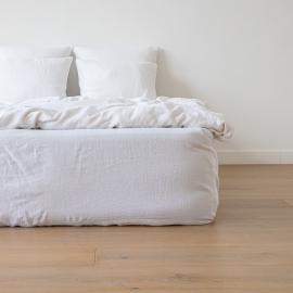 Bettlaken Mit Gummizug Aus Schneeweißem Leinen
