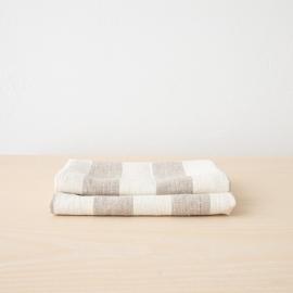 Set mit 2 Natur Leinen Handtüchern Philippe