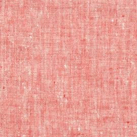 Leinen Stoff Rot Francesca