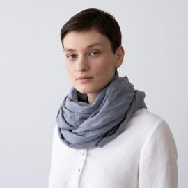 Folkstone grey Leinen-Sommerschal Garza