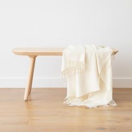 ElfenbeinBaby Alpaka-Decke Bella