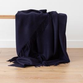 Marineblau Baby Alpaka-Decke Bella