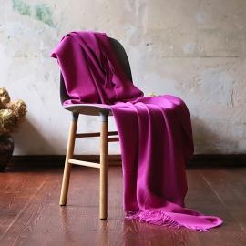 Fuchsia Baby Alpaka-Decke Bella
