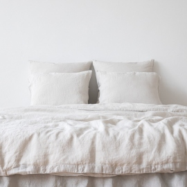 Silver Stone Washed Bed Linen Duvet