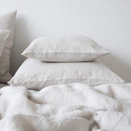 Silver Stone Washed Bed Linen Pillow Case
