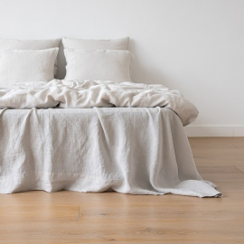 Vorgewaschenes silber Leinen-Duvet