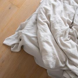 Vorgewaschenes silber Leinen-Bettlaken