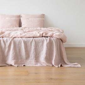 Rosa Bettbezug Leinen Stone Washed