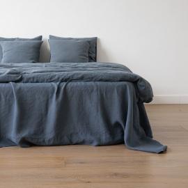 Vorgewaschenes blau Leinen-Duvet