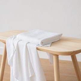 Optischen Weiß Leinen Badetuch Wafer