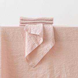 Rosa Leinen Serviette Stone Washed