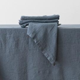 Blau Leinen Serviette Stone Washed