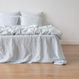 Ice Blau Leinen Bettlaken Stone Washed