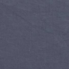 Blaubeere Leinen Stoff Stone Washed