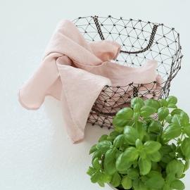 Set von 2 Stein Gewaschen Leinen Tee Handtücher Rosa