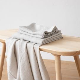 Silber Leinen Badetuch Wafer und Handtüchern Gewaschen